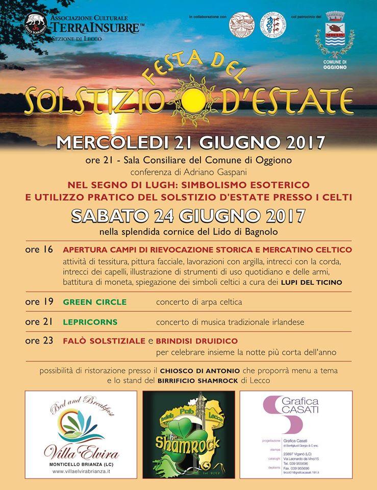 FESTA DEL SOLSTIZIO D'ESTATE A OGGIONO (LC) IL 24 GIUGNO 2017 Solstizio17 Oggiono