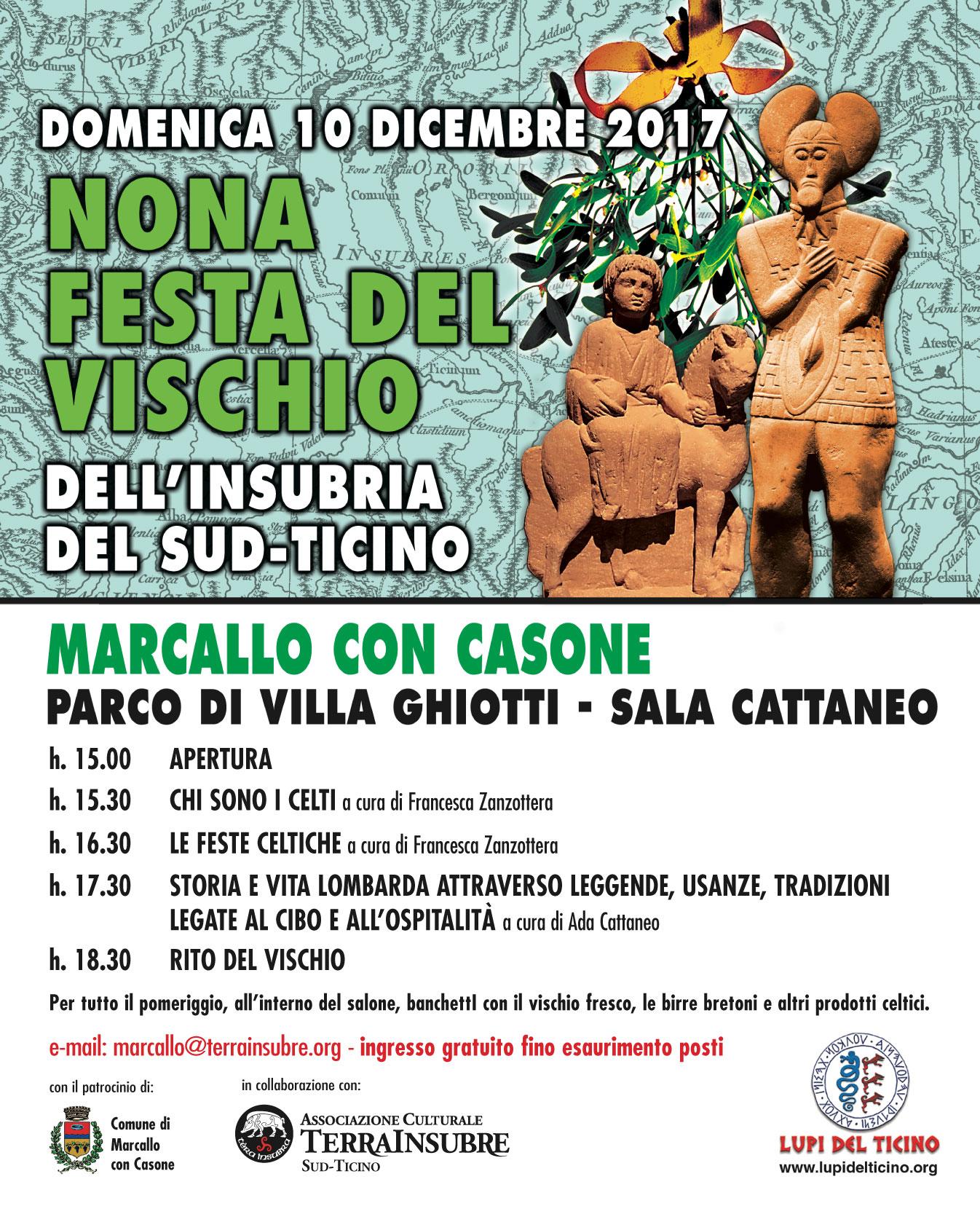 9° FESTA DEL VISCHIO A MARCALLO CON CASONE IL 10 DICEMBRE VISCHIO 2017