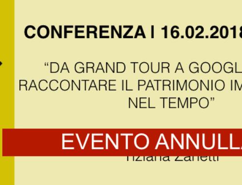 ANNULLAMENTO CONFERENZA 16.02.18